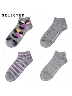 Аксессуар шкарпетки 4в1 250120 ВС сірий комб.
