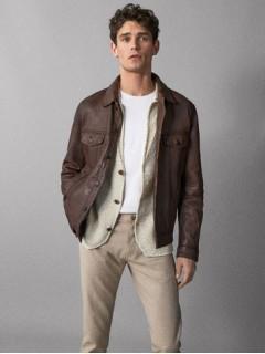 куртка шкіра Massimo Dutti Іспанія