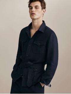 куртка льон Massimo Dutti Німеччина